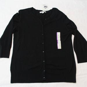 Black Cardigan sweater size XL New